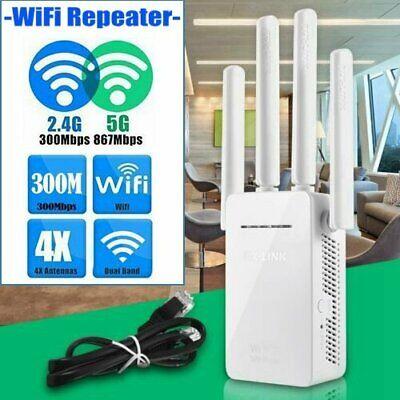 WiFi Signal Range Extender Internet Booster 4 External Antenna Wireless Repeater