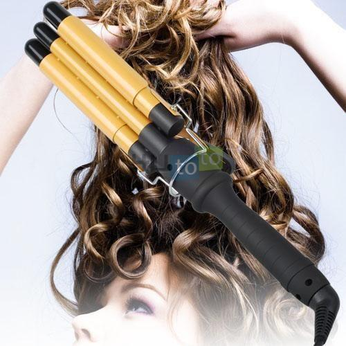 3 Barrel Curling Iron Ebay