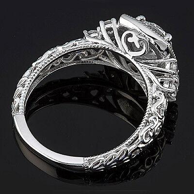 1 CT ROUND CUT DIAMOND ENGAGEMENT RING VS/D ENHANCED 14k WHITE GOLD