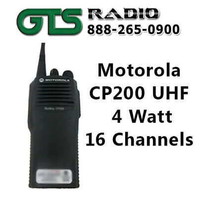 Refurbished Motorola Uhf Cp200 16ch Two Way Radio Handheld Walkie Talkie Police