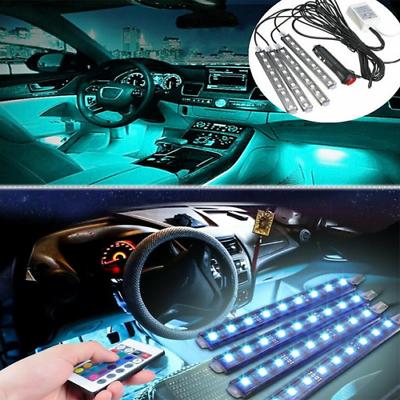 Car Parts - Parts Accessories RGB LED Lights Car Interior Floor Decor Atmosphere Strip Lamp