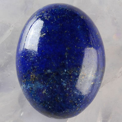 UNUSUAL 10x8mm OVAL CABOCHON-CUT ROYAL-BLUE NATURAL LAPIS LAZULI GEMSTONE £1 NR