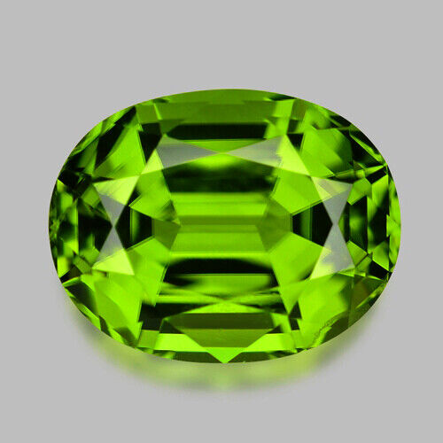 4.33CTS GORGEOUS MASTER OVAL CUT NATURAL AAA GREEN PERIDOT VIDEO  IN DESCRIPTION