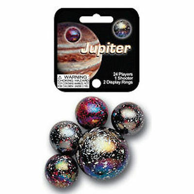 Mega Marbles - JUPITER MARBLES NET (1 Shooter Marble & 24 Player Marbles) NEW