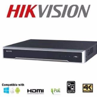HIKVISION DS-7608NI-I2/8P 4K  NVR and Hikvision 4M Dome Cameras