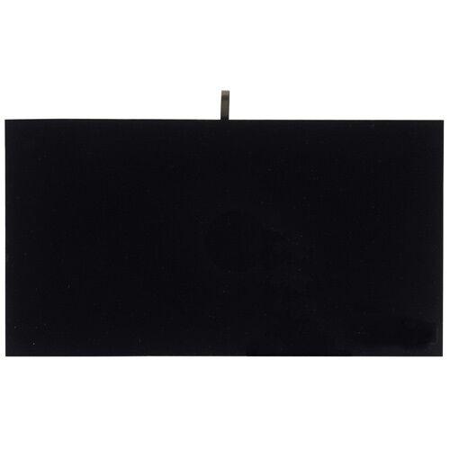 "1 Black Velvet Flat Pad Jewelry Display Case Tray Liner Insert 14 1/8"" x 7 5/8"""