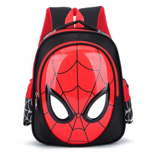 HOT School Bags For Boys Waterproof Backpacks Child Spiderma