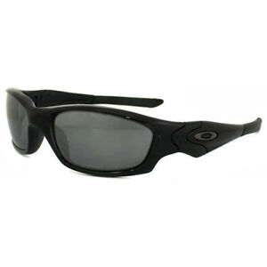 95572673655 Oakley Straight Jacket Sunglasses Polished Black Iridium Polarized 12 935