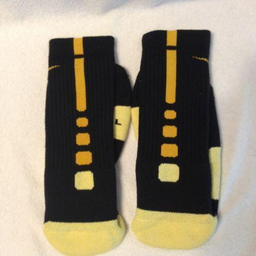 Nike Elite Socks Black Gold | eBay