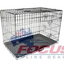 30 Inch Pet Portable Foldable Metal Cage Black North Melbourne Melbourne City Preview