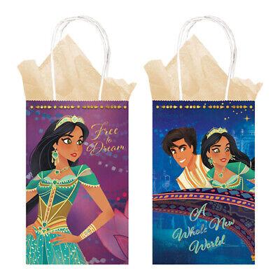ALADDIN KRAFT PAPER FAVOR BAGS (8) ~ Birthday Party Supplies Treat Loot Goody - Aladdin Birthday Party