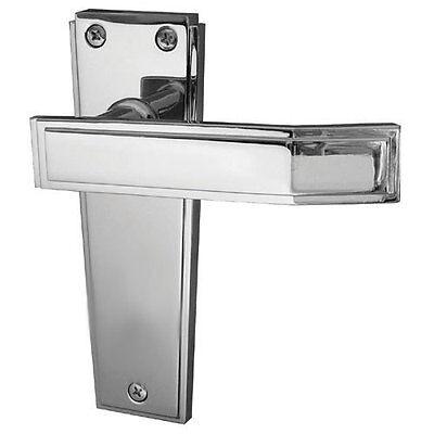 Art Deco Polished Chrome Lever Latch Door Handles JV254PC