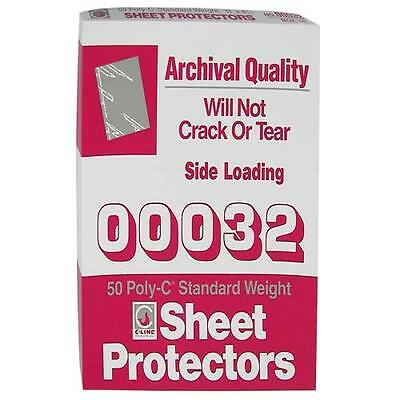 New C-line Standard Letter Size Traditional Poly Sheet Protectors - 50bx