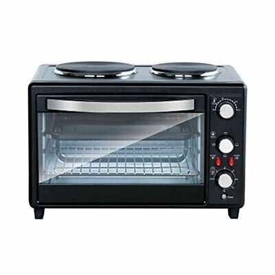 Multi function Countertop Oven Rotisserie Cooker with Dual Electric Burner Burners Double Rotisserie