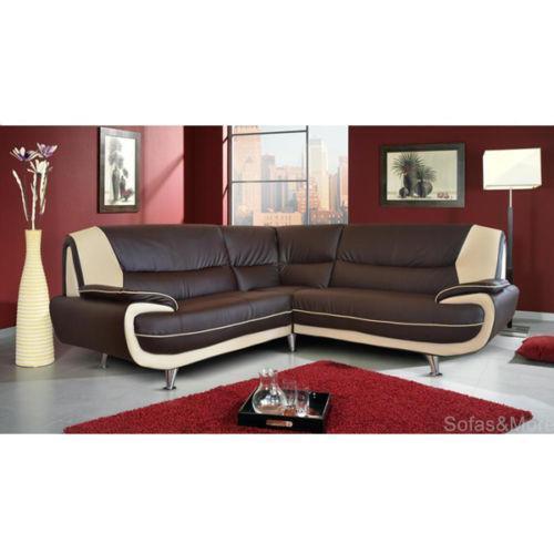 Black Leather Corner Sofa Ebay: Cream Leather Sofa