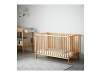 Ikea Sniglar baby cot with mattress, very good condition