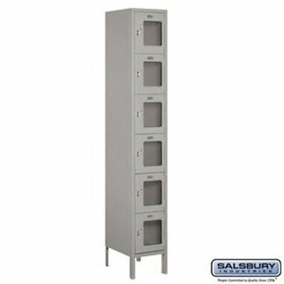Salsbury 12 Wide Six Tier Box Style See-through Metal Locker - 1 Wide - 6 Feet