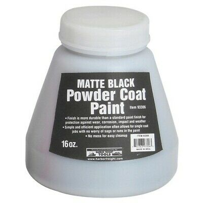 16 Oz. Matte Black Powder Coat Paint Finish Protects Against Corrosion No Mess