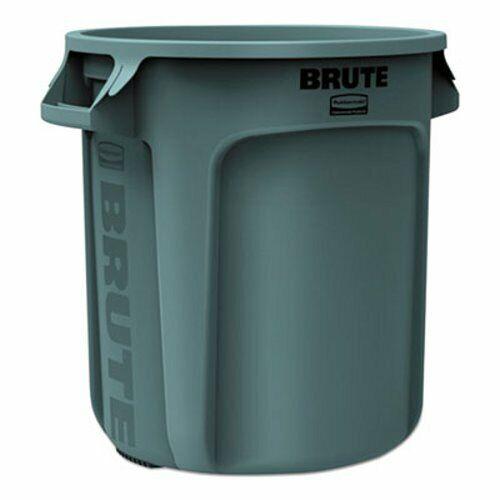Rubbermaid 2610 Brute 10 Gallon Trash Can, Gray, 1 Each (RCP2610GRA)