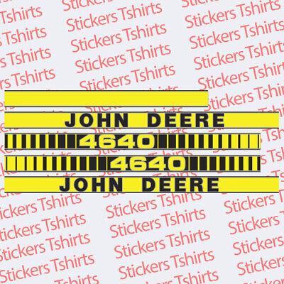 John Deere Tractor 4640 Hood Decals Stickers Set