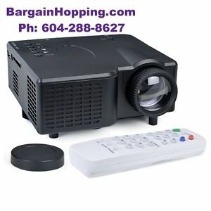 Portable Mini LED Projector With HDMI VGA USB SD Slot & Remote