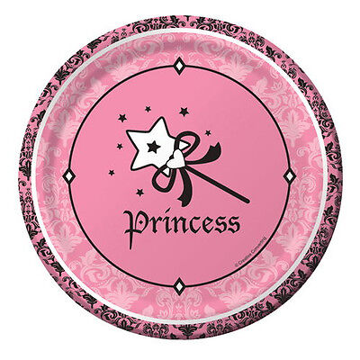 1st BIRTHDAY Royal Princess SMALL PAPER PLATES (8) ~ First Party Supplies Cake ()