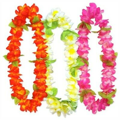 Sunset Floral Leis Assortment 3 Pack Hawaiian Luau Leis Luau Party - Floral Leis