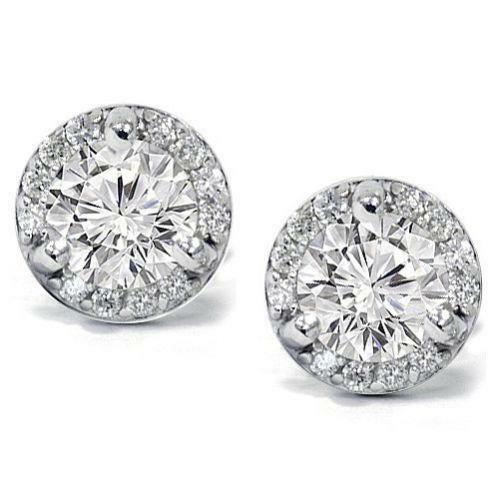 Diamond Halo Earrings | eBay