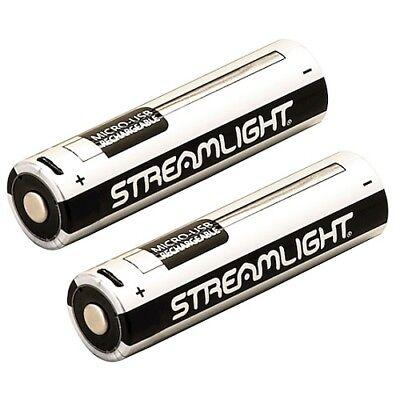 Streamlight 18650 Rechargeable ProTac Flashlight USB Battery 2pk