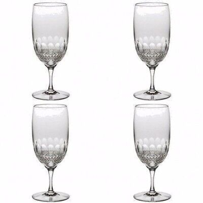 Waterford Crystal Colleen Essence Iced Beverage Tea Glasses Four (4) New 147215