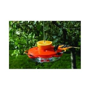 Plastic Oriole Feeder Woodlink Bird Orange 4 Nectar Port Jelly New oz 12 Garden