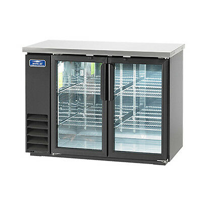 Arctic Air Abb48g 48 6-pk Can Capacity Back Bar Refrigerator Glass Door
