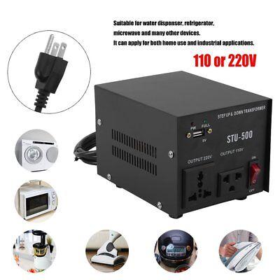 500w Voltage Converter - 500W Watt Step Up/Down USB Voltage Converter Transformer Adapter 110V TO 220V EK