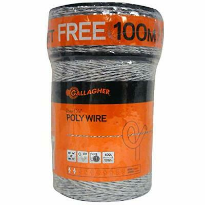 Gallagher Electric Fence Poly Wire Bonus Pack - 1312 Ft Plus Free 328 Ft Ro...
