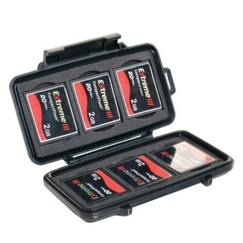Pelican 0945 Compact Flash Case for 6 CF Memory Card Case