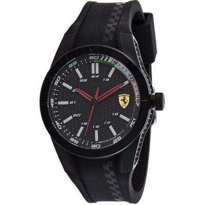 Scuderia Ferrari Mens Red Rev Strap Watch