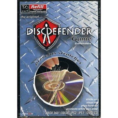 DiscDefender Game Defenders 30 Pack Refill Kit XBOX 360 PS3 PS2 PS1 DVD CD  for sale  Shipping to India