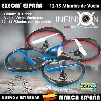 DRON CON CAMARA INFINION 3D TAMAÑO 42x42CM HD 2.4GHZ DRONE QUADCOPTER