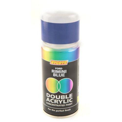 2 x Hycote Ford Rimini Blue 150ml Double Acrylic Spray Paint Aerosol - XDFD244