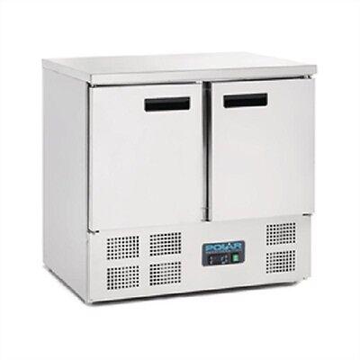Polar 2 Door Compact Counter Fridge 240Ltr - U636  Catering Double Door