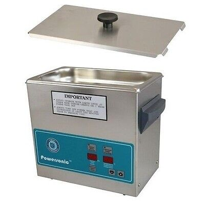 Crest Powersonic Ultrasonic Cleaner 0.75 Gallon Timer Heat P230h-45 Basket