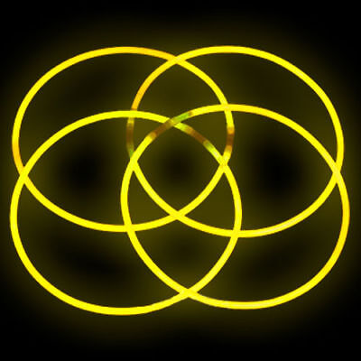 """50 22"""" YELLOW Glowing Necklaces Glow Stick Party Treats"""