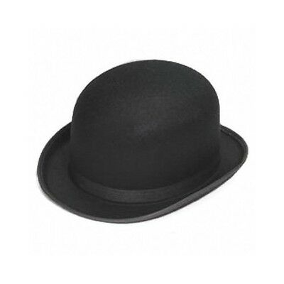 Traditional Derby Hat Black Bowler Bob Felt Men Fashion Style Gentleman Costume