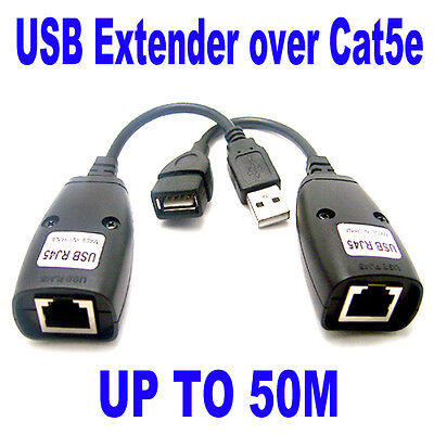 USB UTP Extender Extension Over Single RJ45 Ethernet CAT5e Cable Up to 50M 150FT