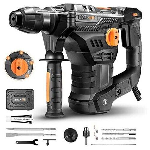 "TACKLIFE TRH01A-1500 1-1/4"" SDS-Plus Rotary Hammer Drill"