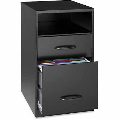 Small Vertical Filing Cabinet File Drawer Office Document Storage Black Steel