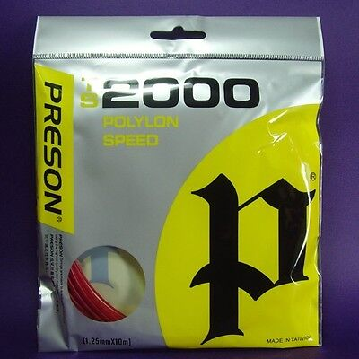 1+1=2 Sets,Tennis String Poly Power,Spin,Control,Gut,String TS2000,Polyon,TS001