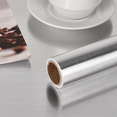 Stainless Steel Silver Contact Paper Vinyl Self Adhesive Fil