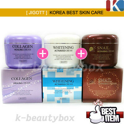 KOREA BEST SKIN CARE Whitening Cream+Snail Cream+Collagen Cream Korean