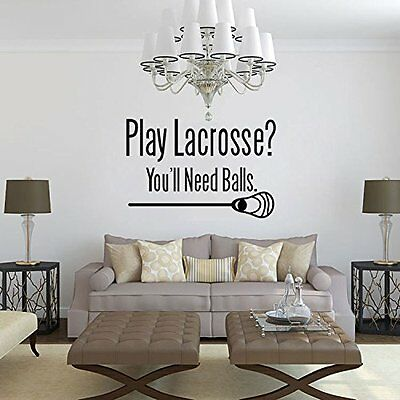 Lacrosse Sport Wall Stickers Decals/Murals Home Decor (Lacrosse Decorations)